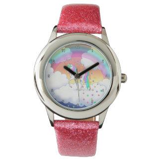 Colorful Rainbow Unicorn and Stars Watch