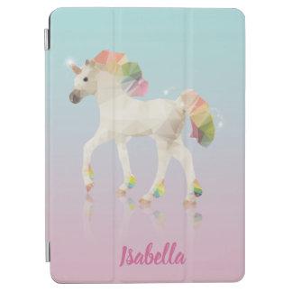 Colorful Rainbow Unicorn Polygon Name - iPad Cover
