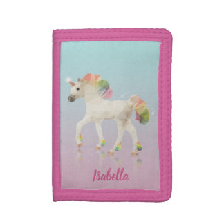 Colorful Rainbow Unicorn Polygon Name - Wallet