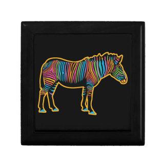 Colorful Rainbow Zebra Gift Box