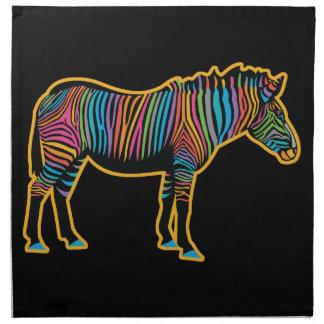 Colorful Rainbow Zebra Napkin