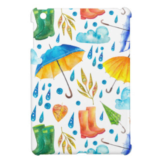 Colorful Rainy Day Pattern iPad Mini Covers