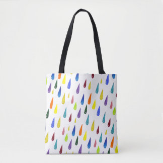 Colorful Rainy Day Pattern Tote Bag