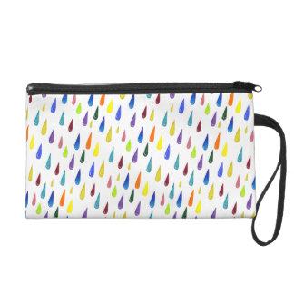 Colorful Rainy Day Pattern Wristlet Purses