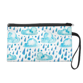 Colorful Rainy Day Wristlet