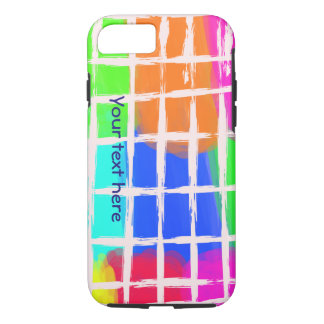 Colorful random checks pattern cute iPhone case