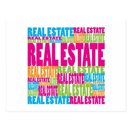 Colorful Real Estate Postcards