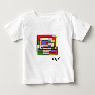Colorful rectangle fun, geometric print baby T-Shirt