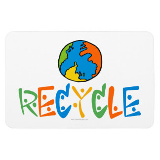 Colorful Recycling Rectangular Photo Magnet