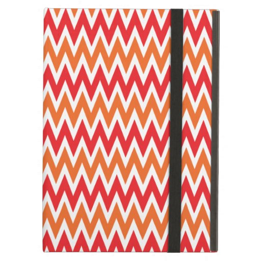 Colorful Red and Orange Chevron Zigzag Pattern iPad Cases