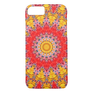 Colorful Red and Yellow Mandala Kaleidoscope iPhone 8/7 Case