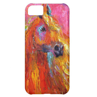 Colorful Red Arabian Horse art iPhone 5C Covers