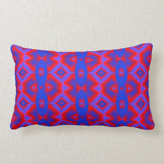 colorful red blue fractal pattern lumbar pillow