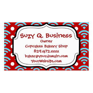 Colorful Red Teal Turquoise Rainbows Arches Dots Business Card