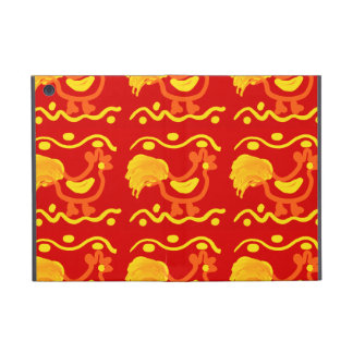 Colorful Red Yellow Orange Rooster Chicken Design iPad Mini Case