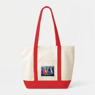 Colorful Regatta Beach Tote Bag