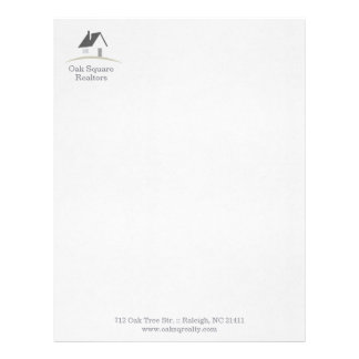 Colorful Residential Real Estate Letterhead