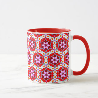 Colorful Retro Abstract Art Pattern Mug - Groovy!