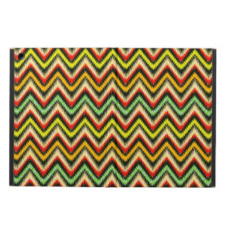 Colorful Retro Chevron Pattern Warm Tones Cover For iPad Air