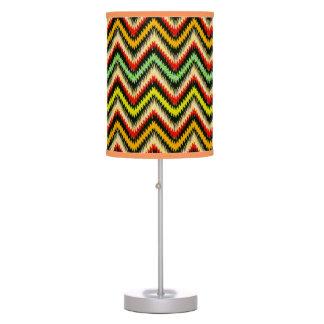 Colorful Retro Chevron Pattern Warm Tones Desk Lamps
