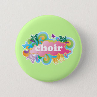 Colorful Retro Choir Design Gift 2 Inch Round Button