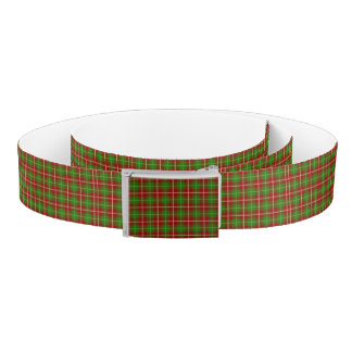 Colorful Retro Christmas Holiday Tartan Plaid Belt