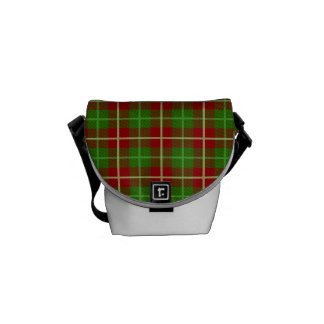 Colorful Retro Christmas Holiday Tartan Plaid Commuter Bags
