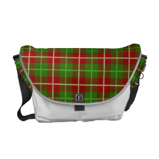 Colorful Retro Christmas Holiday Tartan Plaid Courier Bags