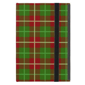 Colorful Retro Christmas Holiday Tartan Plaid iPad Mini Case