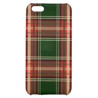 Colorful Retro Christmas Holiday Tartan Plaid iPhone 5C Case