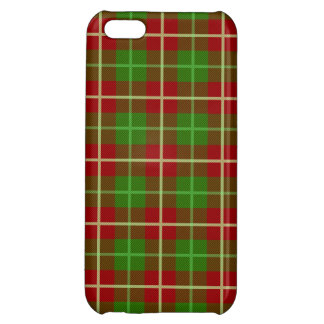 Colorful Retro Christmas Holiday Tartan Plaid iPhone 5C Cases