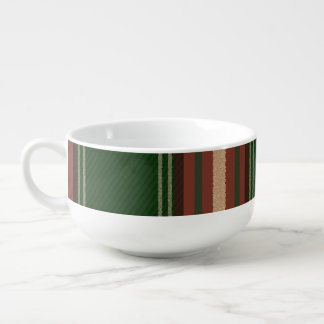 Colorful Retro Christmas Holiday Tartan Plaid Soup Mug