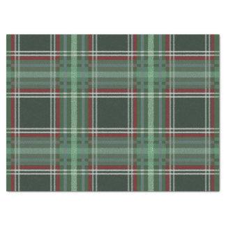 Colorful Retro Christmas Holiday Tartan Plaid Tissue Paper