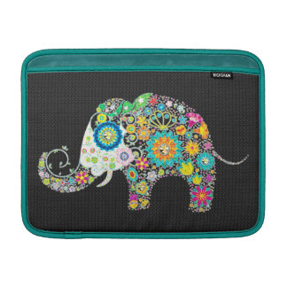 Colorful Retro Floral Elephant Design Sleeve For MacBook Air
