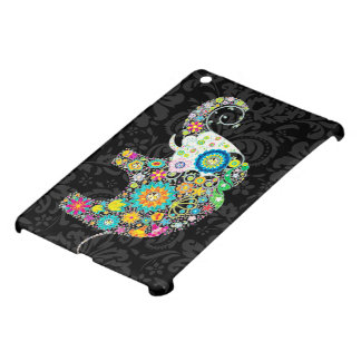 Colorful Retro Floral Elephant iPad Mini Covers