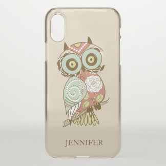 Colorful Retro Floral Owl iPhone X Case