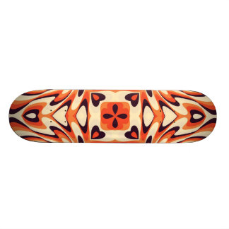 Colorful Retro Floral Seamless Pattern Skate Deck