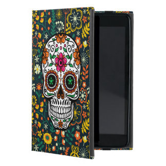 Colorful Retro Floral Sugar Skull iPad Mini Case
