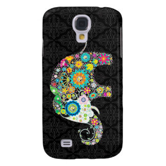 Colorful Retro Flower Elephant Design