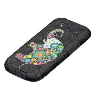 Colorful Retro Flower Elephant Design Samsung Galaxy SIII Cases