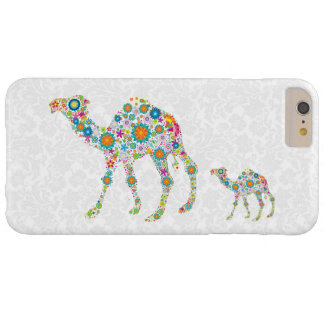 Colorful Retro Flowers Camel White Background Barely There iPhone 6 Plus Case