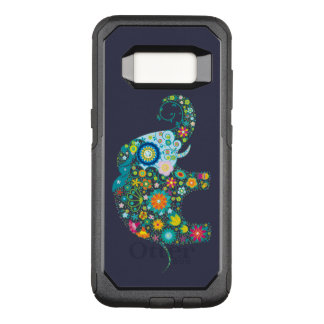 Colorful Retro Flowers Elephant Illustration OtterBox Commuter Samsung Galaxy S8 Case