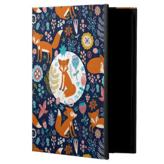 Colorful Retro Foxes & Flowers Pattern Powis iPad Air 2 Case