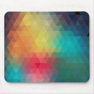 Colorful Retro Geometric Pattern 1 Mouse Pad