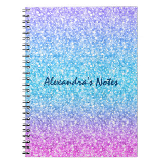 Colorful Retro Glitter And Sparkles Note Book