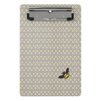 Colorful Retro Honeycomb Grid Pattern Mini Clipboard