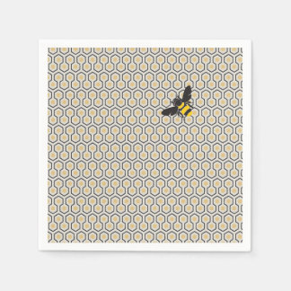 Colorful Retro Honeycomb Grid Pattern Napkin