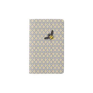 Colorful Retro Honeycomb Grid Pattern Pocket Moleskine Notebook