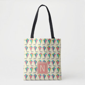 Colorful Retro Kite Pattern Tote Bag