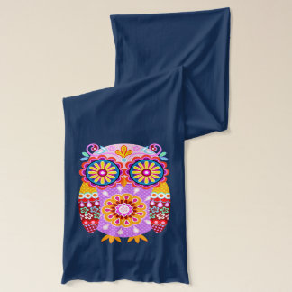 Colorful Retro Owl Scarf - Groovy Abstract!